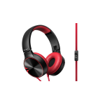 Pioneer SE-MJ722T-R Head-band Binaural Wired Black,Red mobile headset