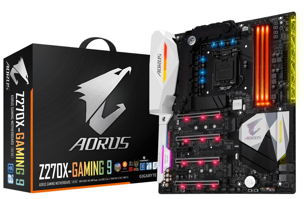 Gigabyte GA-Z270X-GAMING 9 Intel Z270 LGA 1151 (Socket H4) Extended ATX motherboard