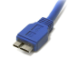StarTech.com 1 ft SuperSpeed USB 3.0 Cable A to Micro B USB3SAUB1