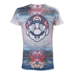 Nintendo Super Mario Bros. Adult Male Tropical Mario All-Over Sublimation T-Shirt, Large, Multi-Colour (TS221