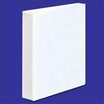 White Box WB PRES 4 O RING BINDER WHITE 16MM
