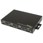 StarTech.com 4 Port Wall Mountable USB to Serial Adapter Hub with COM Retention