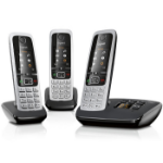 Gigaset C430A Trio Analog/DECT telephone Caller ID Black, Silver