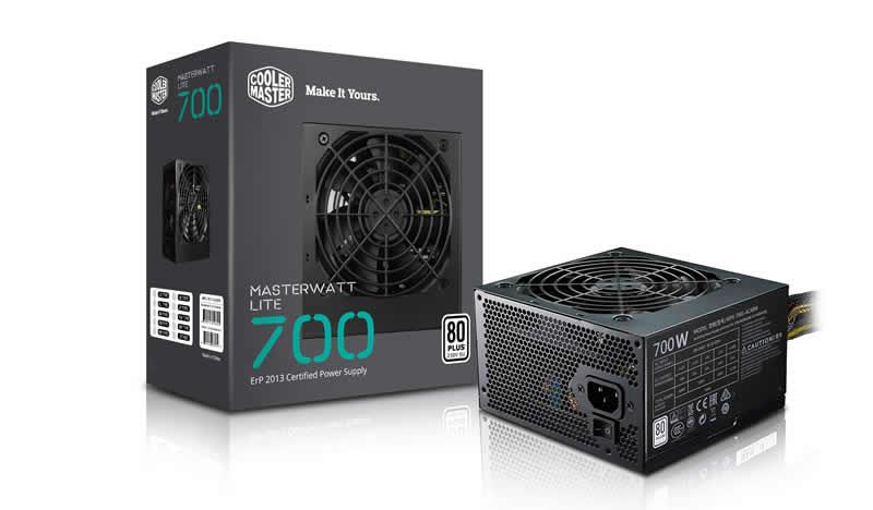 Cooler Master MasterWatt Lite 700W ATX Black power supply unit