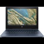 "HP Chromebook x360 11 G3 EE 29,5 cm (11.6"") 1366 x 768 Pixels Touchscreen Intel® Celeron® N 4 GB LPDDR4-SDRAM 32 GB eMMC Wi-Fi 5 (802.11ac) Chrome OS Blauw"