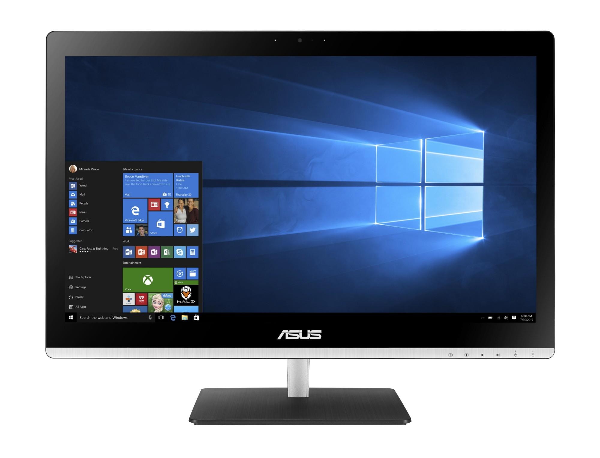 "ASUS Vivo AiO V220IBUK-BC031X 1.6GHz N3700 21.5"" 1920 x 1080pixels Black,Silver"