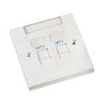 Videk 8621E RJ-45 White socket-outlet