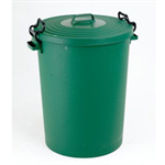 VFM DUSTBIN 110L WITH LID GREEN 38206868