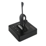 Spracht USB/DECT 6.0 LOW EMISSIONS HEADSET + BASE WITH UP TO 500 FT OF RANGE Monaural Ear-hook Black headset