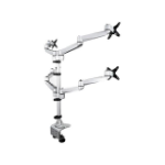 """StarTech.com ARMQUADPS monitor mount / stand 27"""" Clamp Silver"""