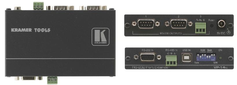 Kramer Electronics VP-14XL AV transmitter Black AV extender