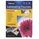 Fellowes A4 Glossy 250 Micron Laminating Pouch - 100 pack