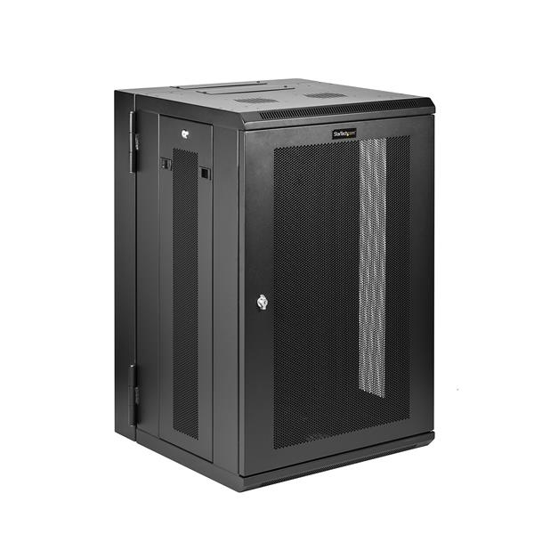 StarTech.com RK1820WALHM Wall mounted rack 18U 90kg Black rack