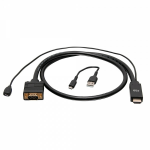 "C2G C2G41472 video cable adapter 70.9"" (1.8 m) VGA (D-Sub) HDMI Black"