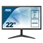 AOC Basic-line 22B1H PC Flachbildschirm 54,6 cm (21.5 Zoll) 1920 x 1080 Pixel Full HD LED Schwarz
