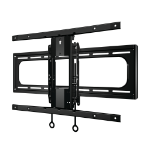 Sanus VLC1 Mounting kit ( swivel wall mount ) for curved LCD TV steel black screen size: 40 Inch to 88 Inch