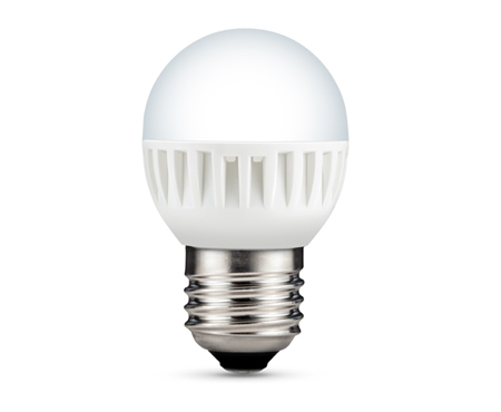 LED-GOLFBALL E27 827 4.1WMILKY 270LM 20000H