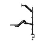 "Newstar FPMA-D500KEYB 27"" Clamp Black flat panel desk mount"