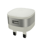 Kit USBMCMETSI mobile device charger Indoor Silver, White