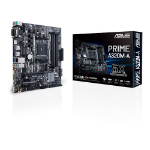 ASUS AMD A320 chipset, AM4 socket for Ryzen, 4 x DIMMs, max. 64GB, Multi-VGA: HDMI, D-Sub, DVI-D, Realtek