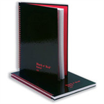 Black n' Red Book Casebound 90gsm Ruled Indexed A-Z 192pp A5 Ref 100080491 [Pack 5]
