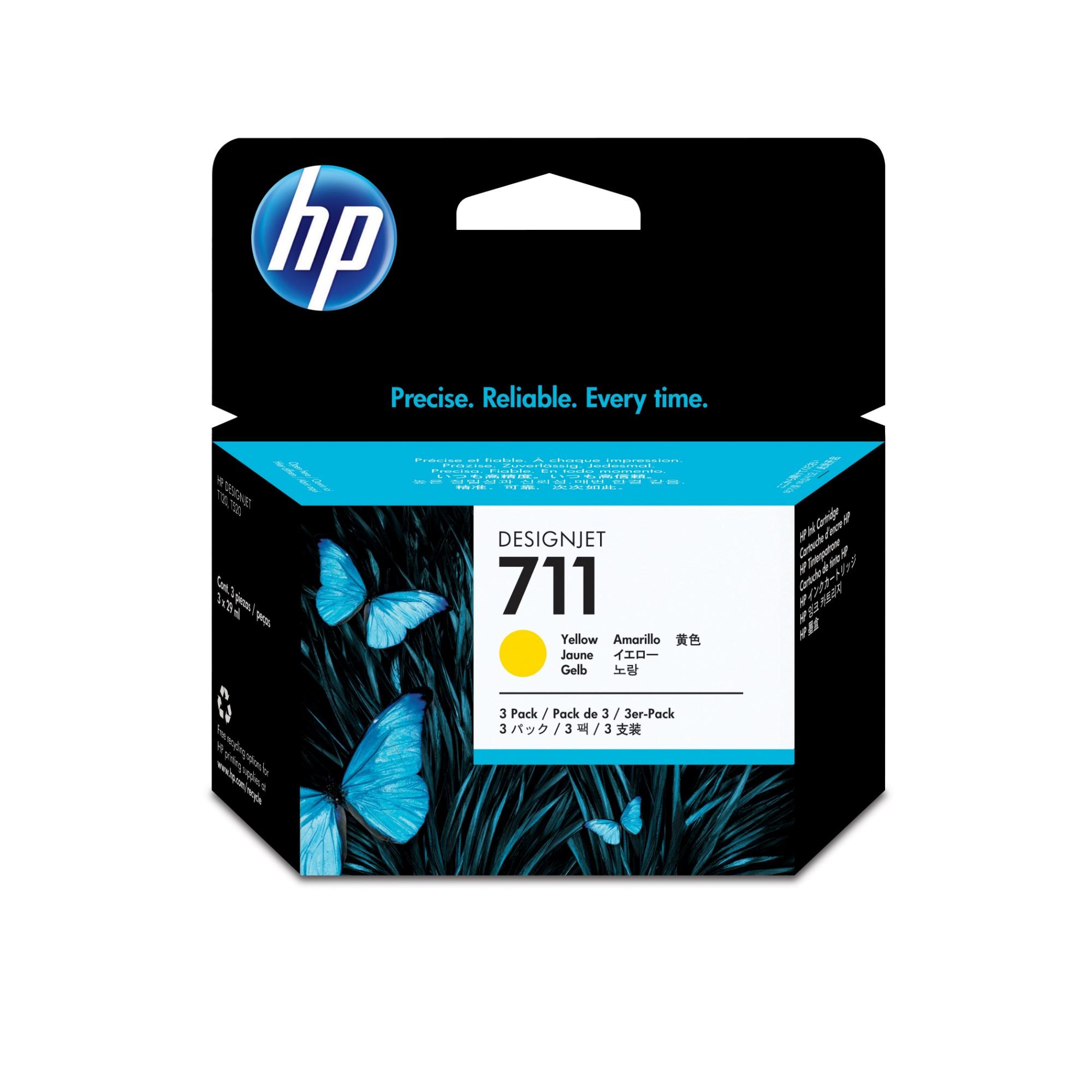 HP 711 Origineel Geel Multipack 3 stuk(s)
