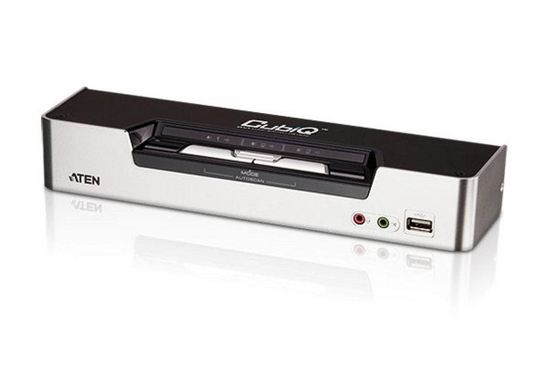 2p USB KVM Switchwith Audio & USB 2.0 Hub