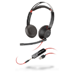 POLY Blackwire C5220 Headset Head-band 3.5 mm connector USB Type-A Black, Red
