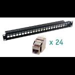 MCL PB-UNI6A/24BN panel de parcheo 1U