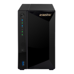 ASUSTOR 2-Bay NAS, Marvell Armada A7020 1.6GHz Dual-Core, 2GB DDR4, Gbe x2, 10G Base-T x1, WoL, hardware encryption