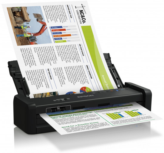Scanner Workforce Ds-360w Portable 600 USB Wi-Fi