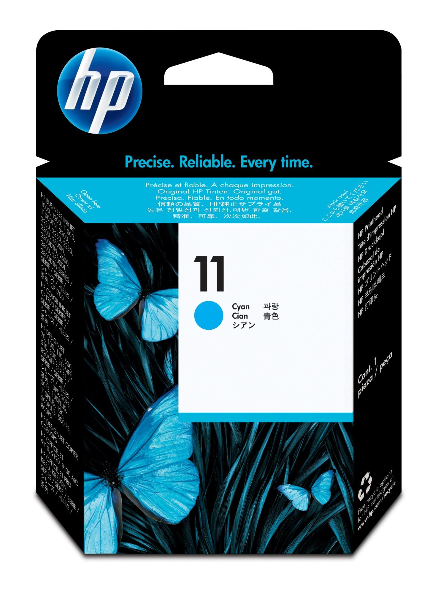 HP C4811A (11) Printhead cyan, 16.000 pg/bk 24.000 pg/c, 8ml