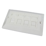 Cables Direct Dual Cat6 Faceplate 4 Port outlet box White