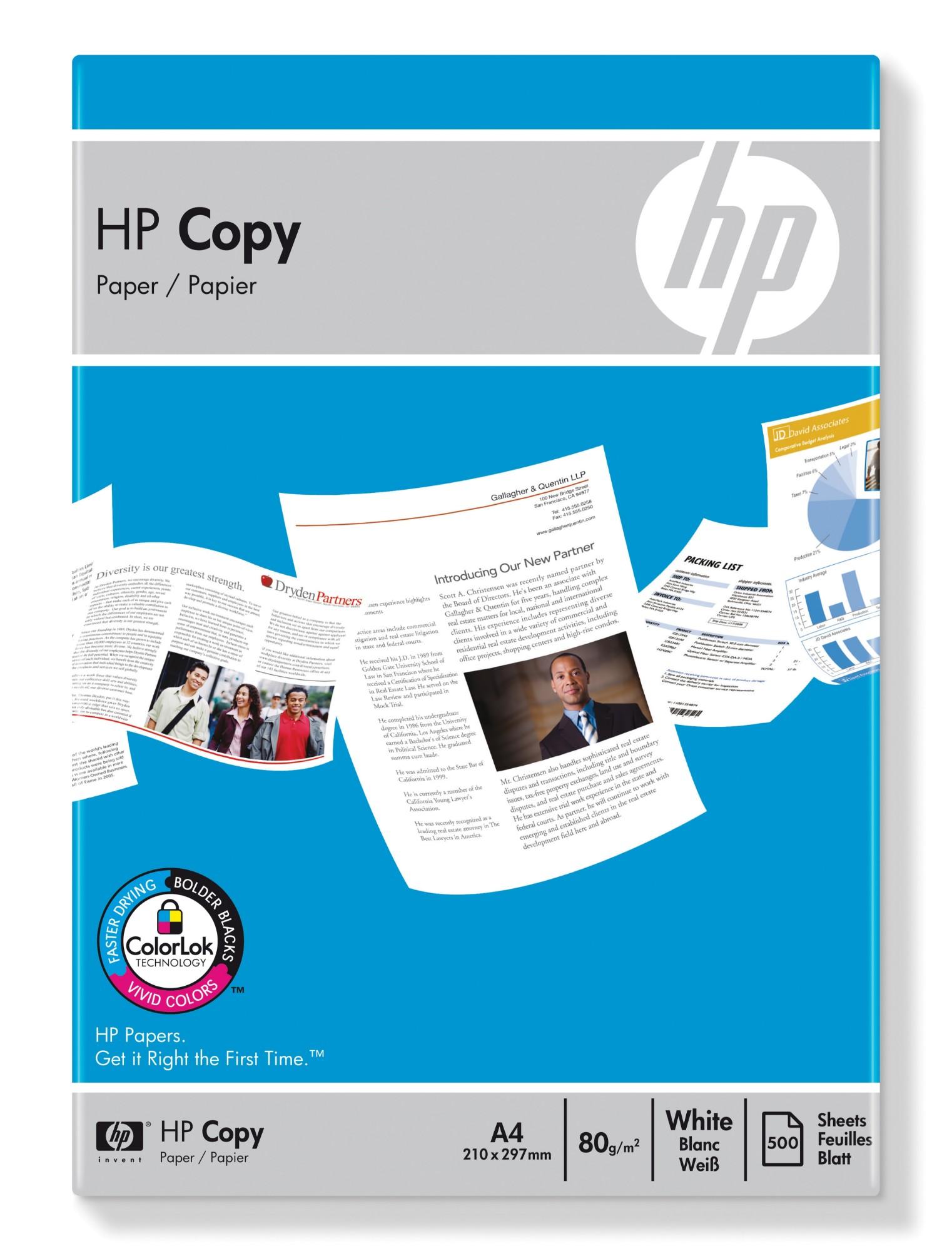 HP Copy Paper 80 gsm-500 sht/A4/210 x 297 mm