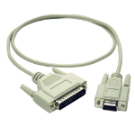 C2G 2m DB9 F/DB25 M Cable serial cable Grey