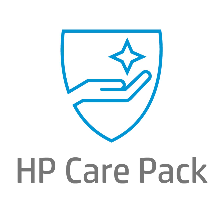 HP Servicio de 4 años al siguiente día laborable, con intercambio avanzado, para monitor extragrande