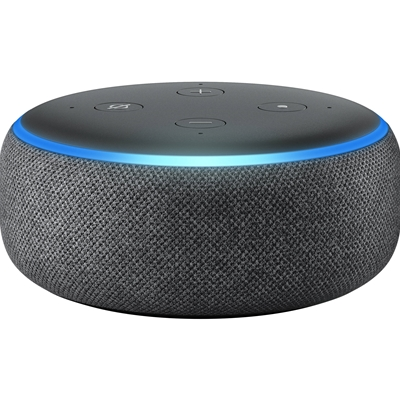 AMAZON All-new Echo Dot (3rd Gen) Smart speaker with Alexa Charcoal Fabric