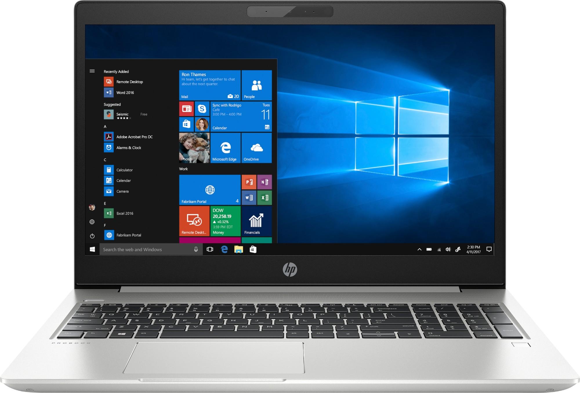 "HP ProBook 450 G6 Silver Notebook 39.6 cm (15.6"") 1920 x 1080 pixels 8th gen Intel® Core™ i5 8 GB DDR4-SDRAM 256 GB SSD Windows 10 Pro"