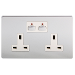 EnerGenie MIHO022 socket-outlet Chrome, White