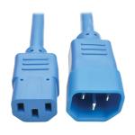 Tripp Lite Standard Computer Power Extension Cord, 10A, 18 AWG (IEC-320-C14 to IEC-320-C13), Blue, 0.91 m