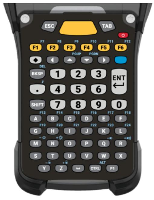 Zebra KYPD-MC9358ANR-01 teclado para móvil Alfanumérico Inglés Negro, Gris