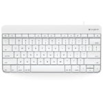 Logitech Wired Keyboard 30-pin White mobile device keyboard