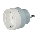 C2G 80809 Type F (Schuko) Type E (FR) Grey,White power plug adapter
