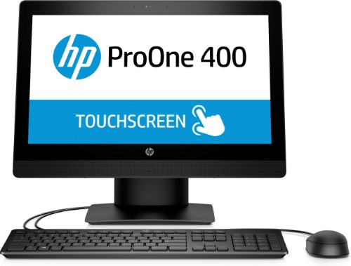 "HP ProOne 400 G3 50.8 cm (20"") 1600 x 900 pixels Touchscreen 3.4 GHz 7th gen Intel® Core™ i5 i5-7500 Black All-in-One PC"