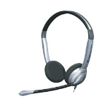 Sennheiser SH 350 Binaural Wired Black,Silver mobile headset