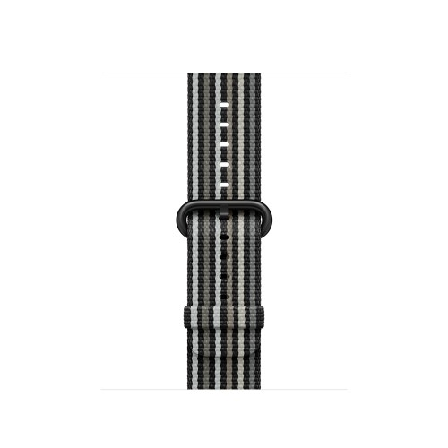 Apple 38mm Black Stripe Woven Nylon
