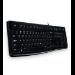 Logitech K120 teclado USB Ucranio Negro
