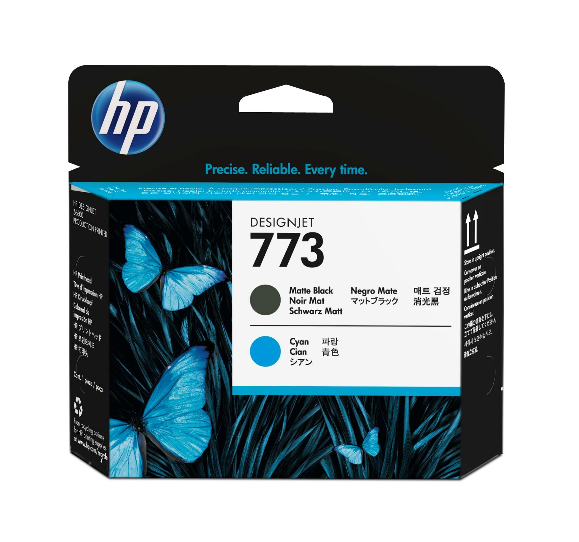 HP 773 Matte Black/Cyan DesignJet Printhead