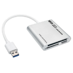 Tripp Lite USB 3.0 SuperSpeed Multi-Drive Memory Card Reader / Writer, Aluminum Case