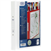 Elba Vision Ring Binder PVC Clear Front Pocket 2 O-Ring Size 25mm A4 White Ref 100080889 [Pack 10]